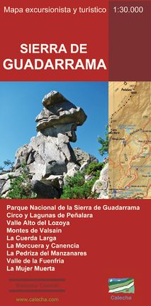 SIERRA DE GUADARRAMA [1:30.000] - MAPA EXCURSIONISTA Y TURÍSTICO