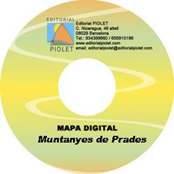 MUNTANYES DE PRADES 1:25.000 [CD-ROM] CARTOGRAFIA DIGITAL GPS -PIOLET