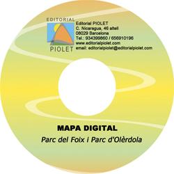 PARC DEL FOIX [CD-ROM] I PARC D'OLERDOLA 1:20.000 -CARTOGRAFIA DIGITAL GPS -PIOLET