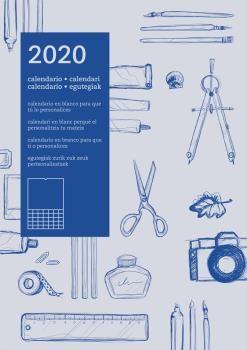 2020 CALENDARIO EN BLANCO [LILA][CAS-CAT-GAL-EUS]
