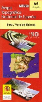 65 (25-05) BERA/VERA DE BIDASOA 1:50.000 -CNIG