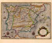 TOTIUS HISPANIAE 1633 [MURAL-MAPES ANTICS] [LAMINA]