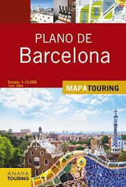 BARCELONA, PLANO DE 1:10.000 -MAPA TOURING