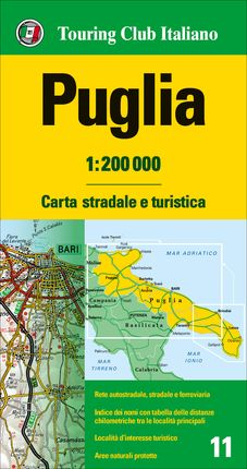 PUGLIA 1:200.000 -TOURING CLUB ITALIANO