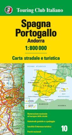 SPAGNA - PORTOGALLO - ANDORRA 1:800.000 -TOURING CLUB ITALIANO