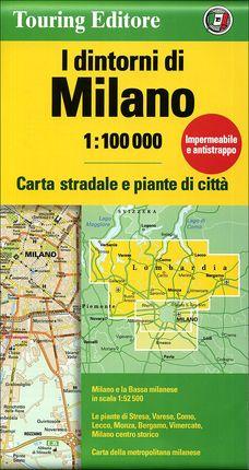 MILANO. I DINTORNI DI 1:100.000 -TOURING CLUB ITALIANO