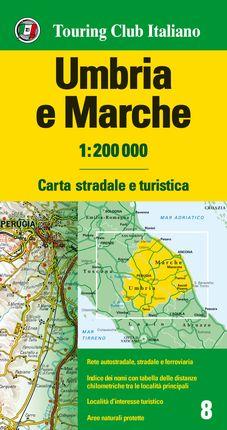 UMBRIA E MARCHE 1:200.000 -TOURING CLUB ITALIANO