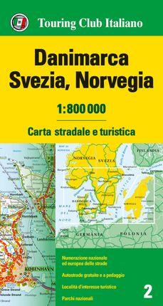 DANIMARCA, SVEZIA, NORVEGIA 1:800.000 -TOURING CLUB ITALIANO