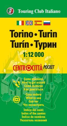 TORINO (TURIN) 1:12.000 -CENTROCITTA POCKET -TOURING EDITORE