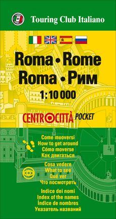 ROMA (ROME) 1:10.000 -CENTROCITTA POCKET -TOURING EDITORE