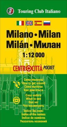 MILANO (MILAN) 1:12.000 -CENTROCITTA POCKET -TOURING EDITORE