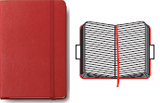 RULED NOTEBOOK L [ROJA 13X21] RAYAS, CUADERNO RED LARGE -MOLESKINE