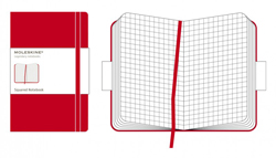 RED SQUARED NOTEBOOK [9X14] CUADRICULADAS POCKET CLASSIC -MOLESKINE
