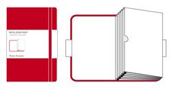 RED MEMO POCKETS [9X14 FUELLE] POCKET CLASSIC -MOLESKINE