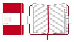 RED ADDRESS BOOK [9X14 PAUTADAS] AGENDA DE DIRECCIONES POCKET -MOLESKINE