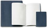 3 XLARGE LISAS CAHIER AZUL [19X25] PLAIN -MOLESKINE