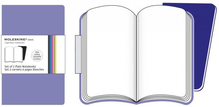 2 XSMALL PLAIN LILA VOLANT [6,5X10,5] LISAS -MOLESKINE
