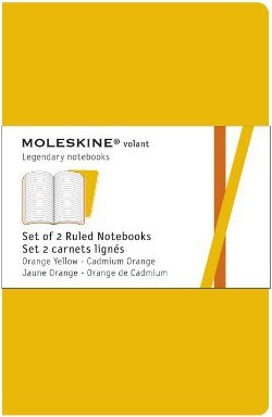 2 XSMALL PLAIN ORANGE YELLOW VOLANT [6,5X10,5] LISAS -MOLESKINE
