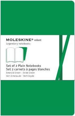 2 LARGE RULED GREEN VOLANT [13X21] RAYAS -MOLESKINE