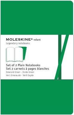 2 XLARGE PLAIN GREEN VOLANT [19X25] LISAS -MOLESKINE