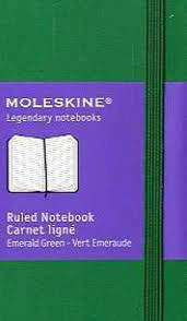 XSMALL RULED EMERALD GREEN [6,5X10,5][RAYAS] -MOLESKINE