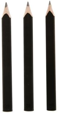 SET 3 BLACK PENCILS [3 LAPICES NEGROS] -MOLESKINE