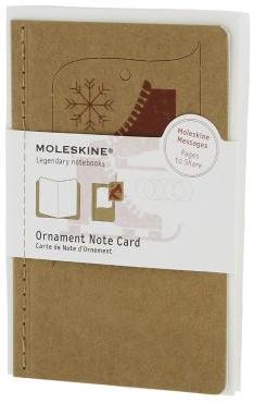 ORNAMENT NOTE CARD P [POSTAL] PATINES DE HIELO (TOSTADO) -MOLESKINE