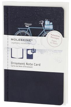 ORNAMENT NOTE CARD P [POSTAL] BICICLETA NEVADA (AZUL) -MOLESKINE