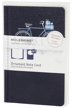 ORNAMENT NOTE CARD P [POSTAL] BICICLETA NEVADA (AZUL) -MOLESKINE