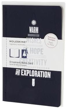 ORNAMENT NOTE CARD [POSTAL] ARBOL DE NAVIDAD (AZUL) -MOLESKINE