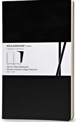 2 POCKET LISAS NEGRO VOLANT [9X14] PLAIN -MOLESKINE