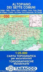 050 ALTOPIANO DEI SETTE COMUNI 1:25.000 -TABACCO