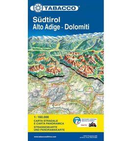 SÜDTIROL / ALTO ADIGE - DOLOMITI 1:160.000 -TABACCO [ITA-DEU-ENG-RUS]