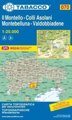070 IL MONTELLO, COLLI ASOLANI MONTEBELLUNA, VALDOBBIADENE 1:25.000 -TABACCO