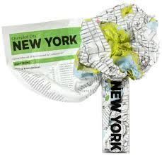 NEW YORK [MAPA TELA] -CRUMPLED CITY MAP