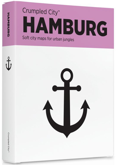HAMBURG [MAPA TELA] -CRUMPLED CITY MAP