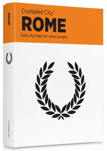 ROME [MAPA TELA] -CRUMPLED CITY MAP