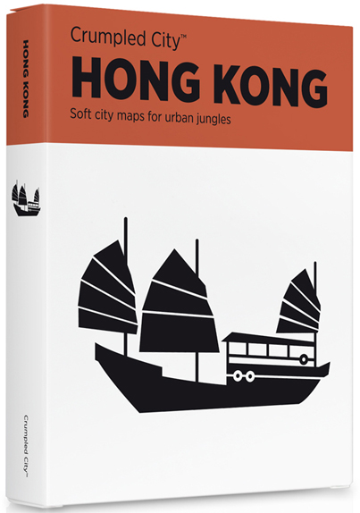 HONG KONG [MAPA TELA] -CRUMPLED CITY MAP