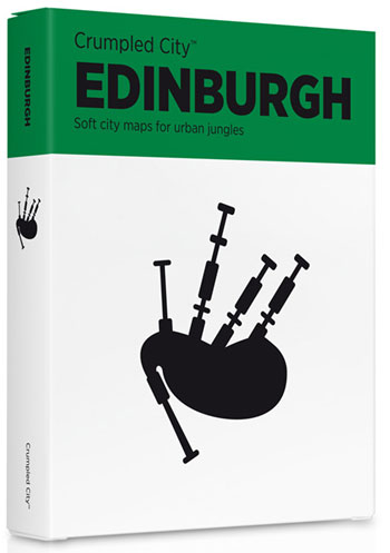 EDINBURGH [MAPA TELA] -CRUMPLED CITY MAP