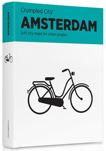 AMSTERDAM [MAPA TELA] -CRUMPLED CITY MAP