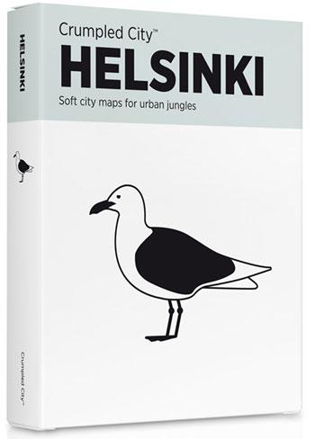 HELSINKI [MAPA TELA] -CRUMPLED CITY MAP