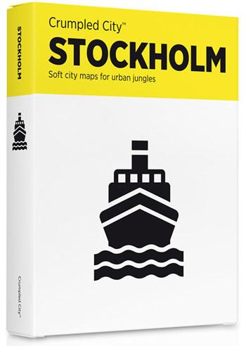 STOCKHOLM [MAPA TELA] -CRUMPLED CITY MAP