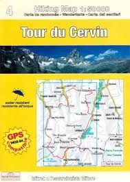 4 TOUR DU CERVIN 1:50.000- HIKING MAP