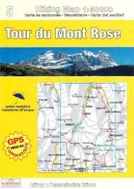 5 TOUR DU MONT ROSE 1:50.000- HIKING MAP