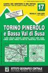17 TORINO, PINEROLO E BASSA VAL DI SUSA 1:50.000 -IGC