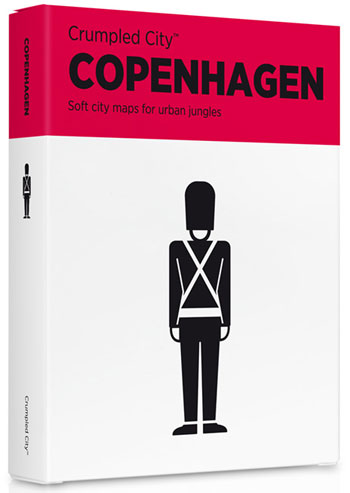 COPENHAGEN [MAPA TELA] -CRUMPLED CITY MAP