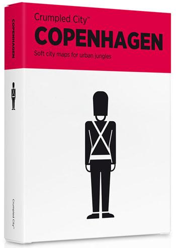 COPENHAGEN [MAPA TELA] -CRUMPLED CITY MAP
