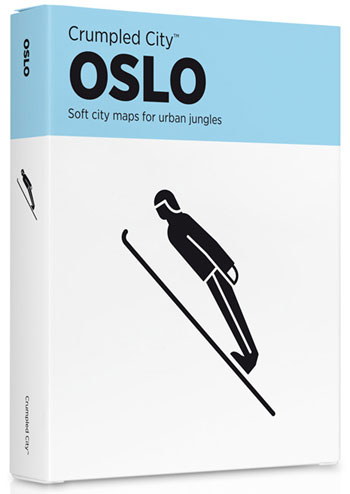 OSLO [MAPA TELA] -CRUMPLED CITY MAP