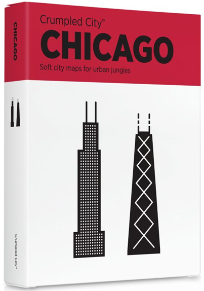 CHICAGO [MAPA TELA] -CRUMPLED CITY MAP