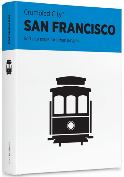 SAN FRANCISCO [MAPA TELA] -CRUMPLED CITY MAP